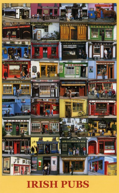 30 aprilpubs in Ierland(kaart)